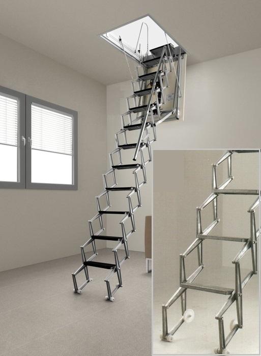 Portatif tavan arasi merdivenler at merdiveni ati - Escaleras para sotanos ...